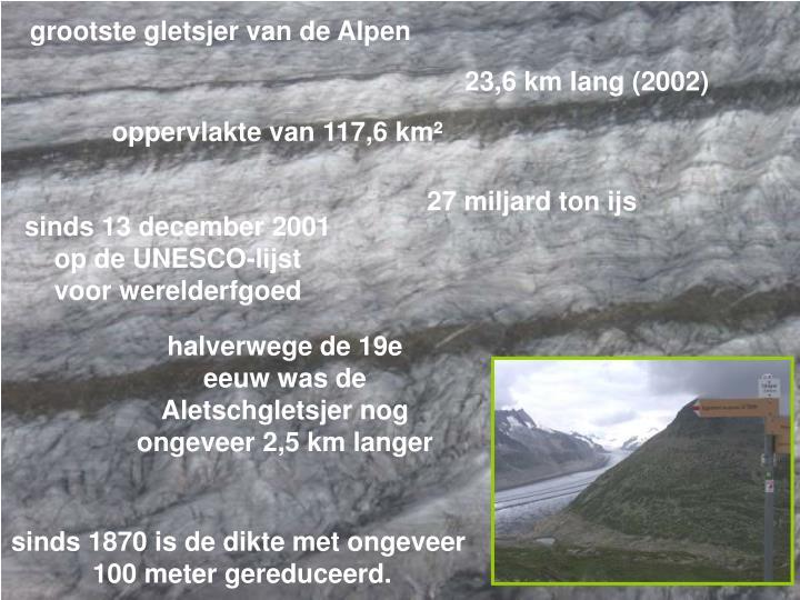 grootste gletsjer van de Alpen