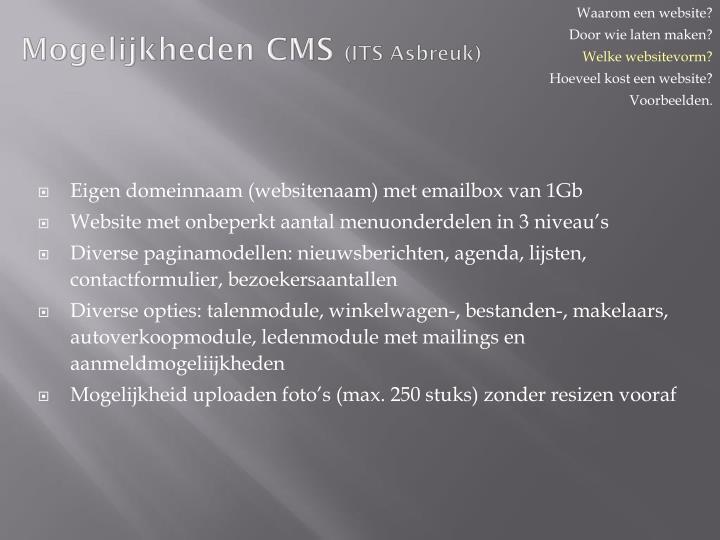 Mogelijkheden CMS