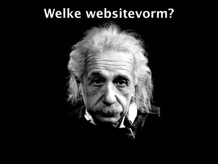 Welke websitevorm?