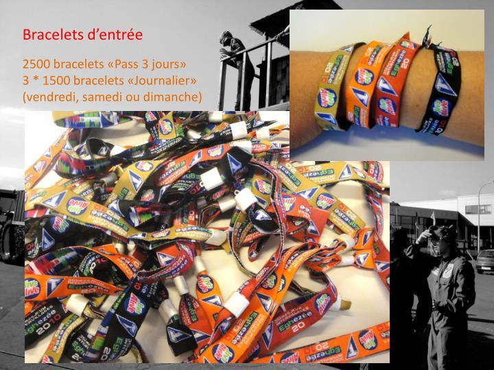 Bracelets d'entrée