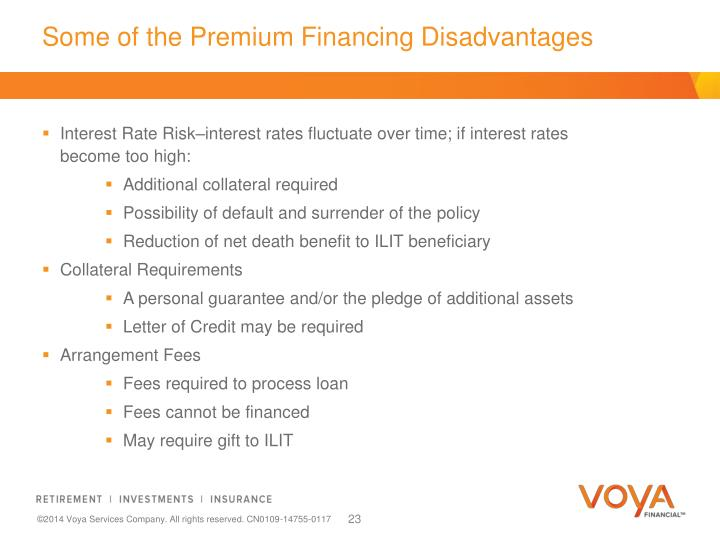 Some of the Premium Financing Disadvantages