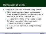 comparison of strings