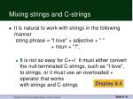 mixing strings and c strings