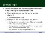 strcmp s logic