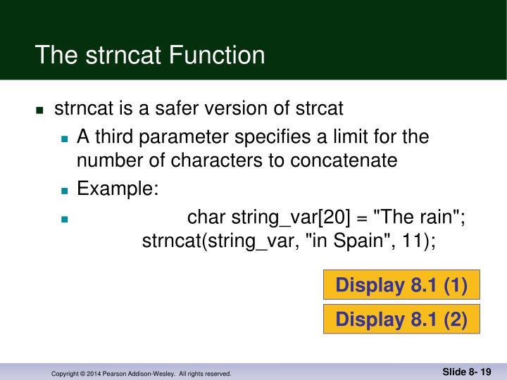 The strncat Function