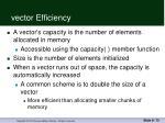 vector efficiency