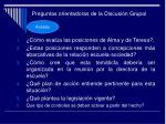 preguntas orientadoras de la discusi n grupal