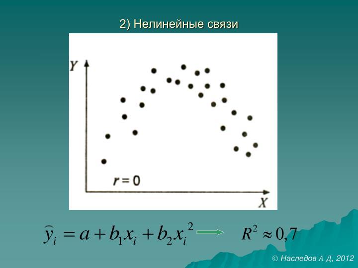 2) Нелинейные связи