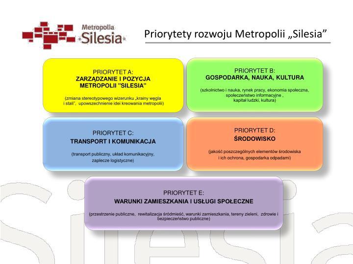 "Priorytety rozwoju Metropolii ""Silesia"""