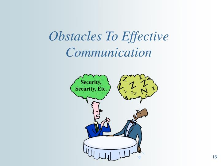 Obstacles To Effective Communication