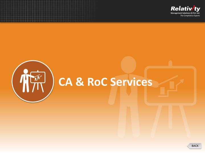 CA & RoC Services