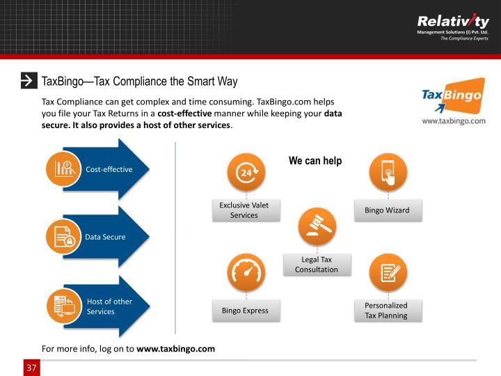 TaxBingo—Tax Compliance the Smart Way