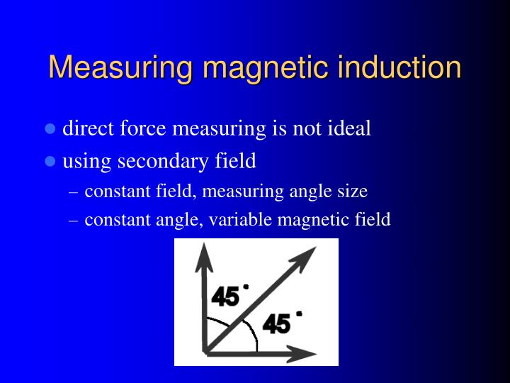 Measuring magnetic induction