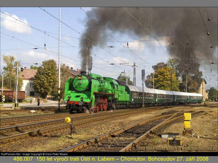486.007  150 let výročí trati Ústí n. Labem – Chomutov. Bohosudov 27. září 2008