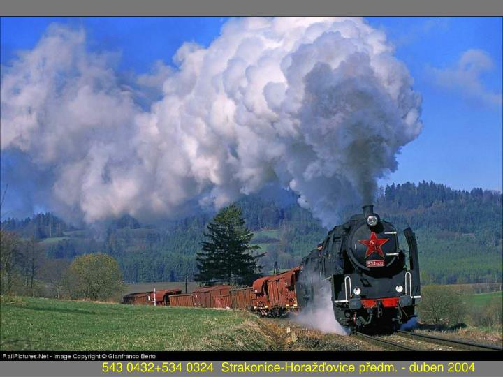 543 0432+534 0324  Strakonice-Horažďovice předm. - duben 2004