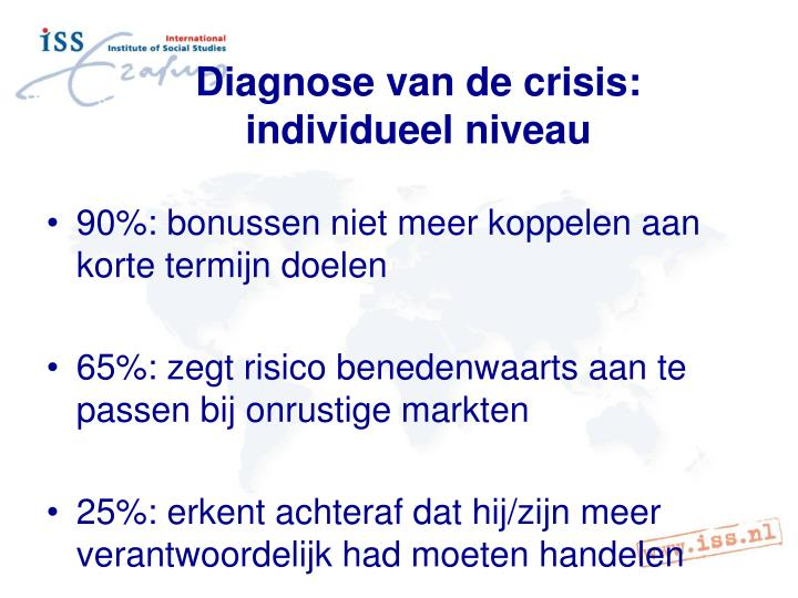 Diagnose van de crisis: