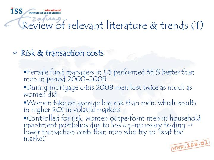 Review of relevant literature & trends (1)