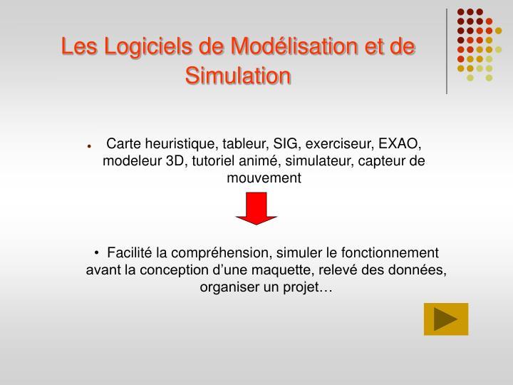 Les Logiciels de Modélisation et de Simulation