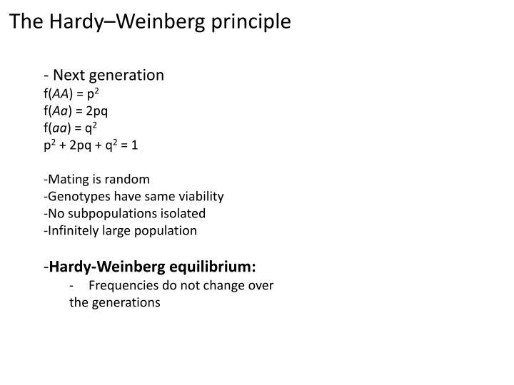 The Hardy–Weinberg principle