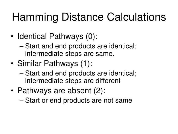 Hamming Distance Calculations