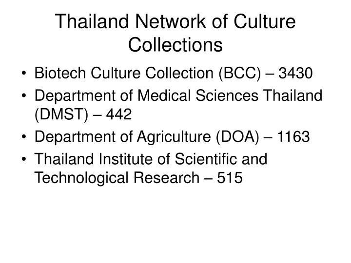 Thailand Network of Culture Collections