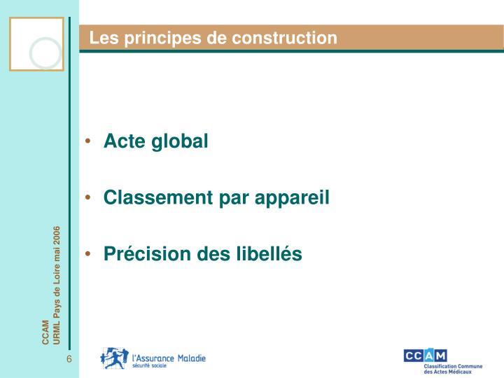 Les principes de construction