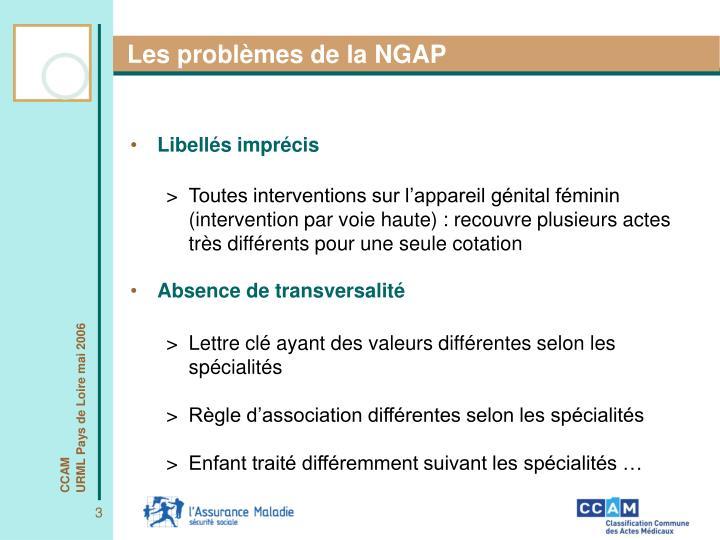 Les problèmes de la NGAP