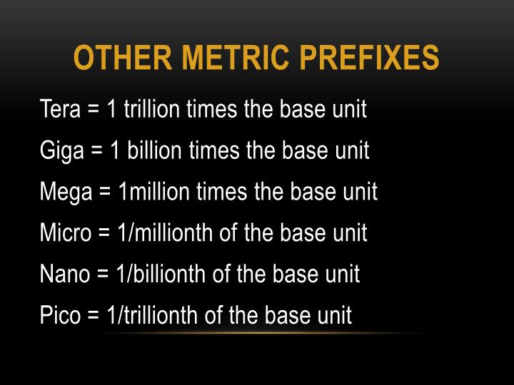 other Metric prefixes