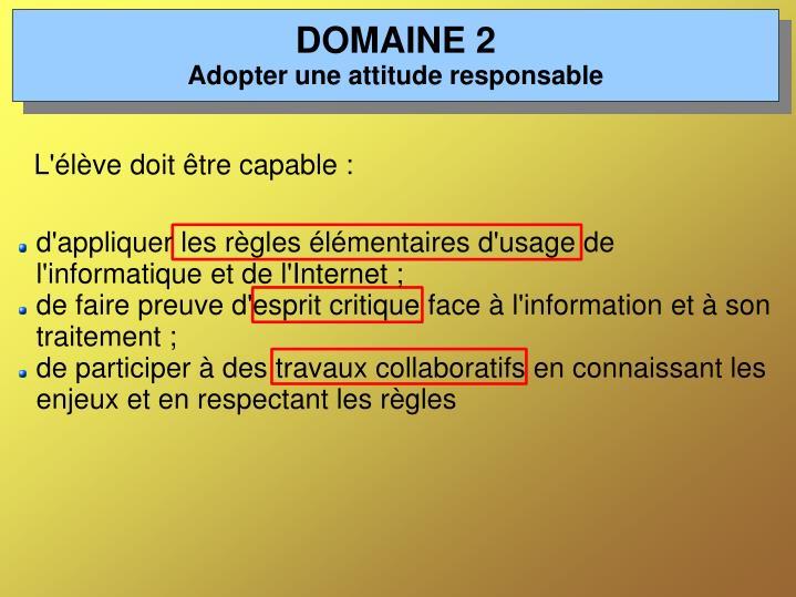DOMAINE 2
