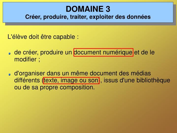 DOMAINE 3