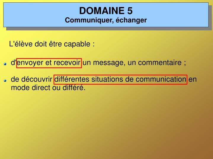 DOMAINE 5