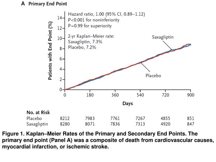 Figure 1. Kaplan–Meier Rates of the Primary and Secondary End Points. The primary end point (Panel A) was a composite of death from cardiovascular causes, myocardial infarction, or ischemic stroke.