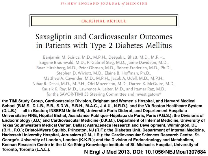 The TIMI Study Group, Cardiovascular Division, Brigham and Women's Hospital, and Harvard Medical S...