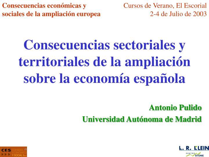 Consecuencias económicas y sociales de la ampliación europea