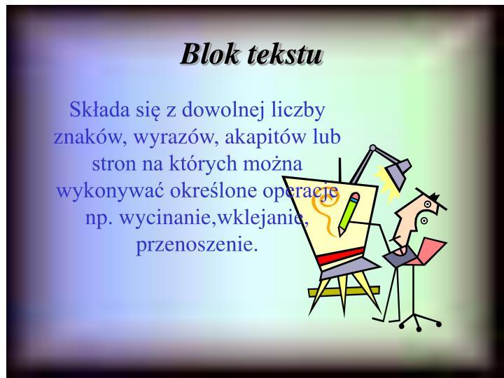 Blok tekstu