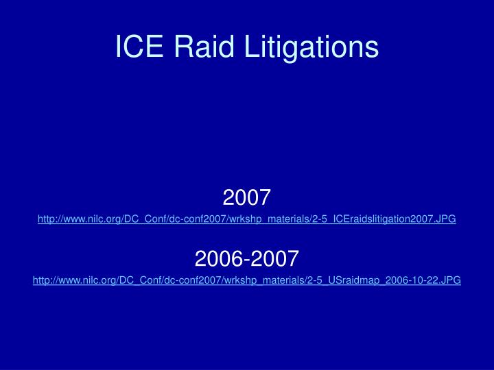 ICE Raid Litigations