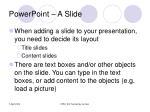 powerpoint a slide