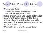 powerpoint present the slides