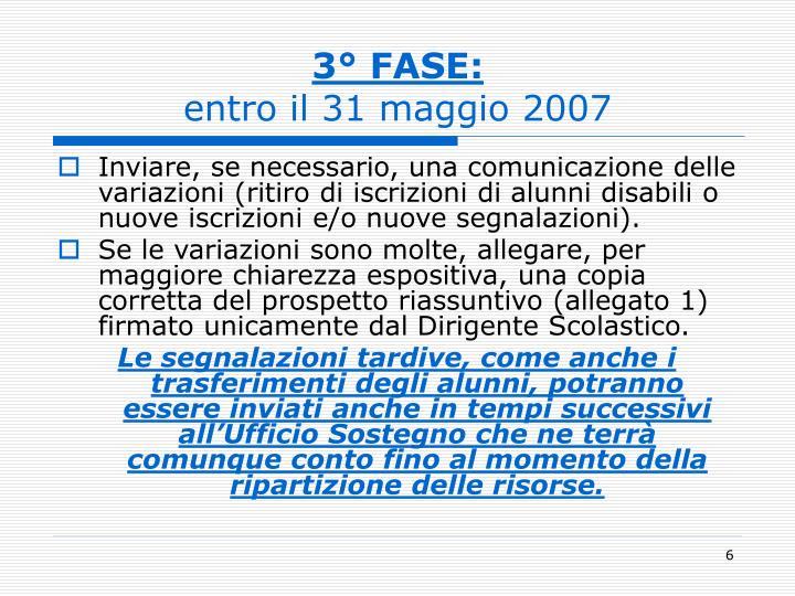 3° FASE: