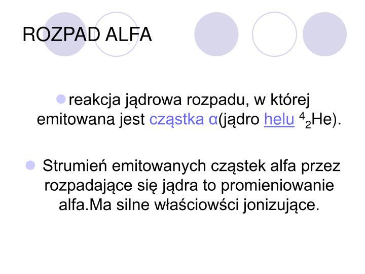 ROZPAD ALFA