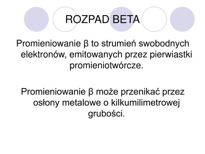 ROZPAD BETA