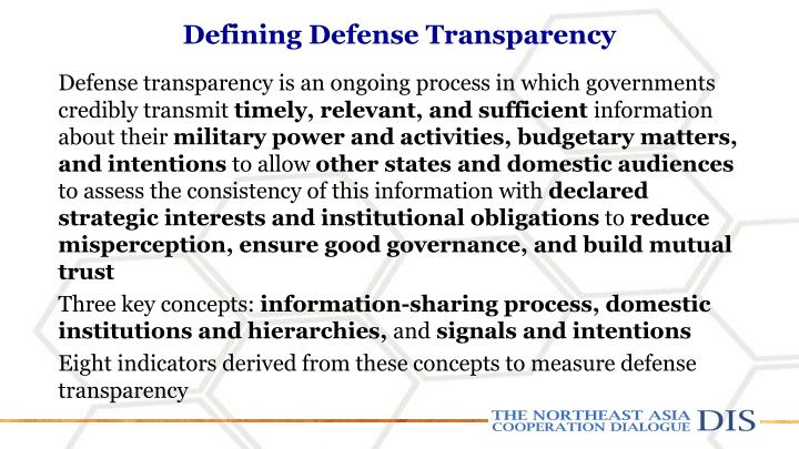 Defining Defense