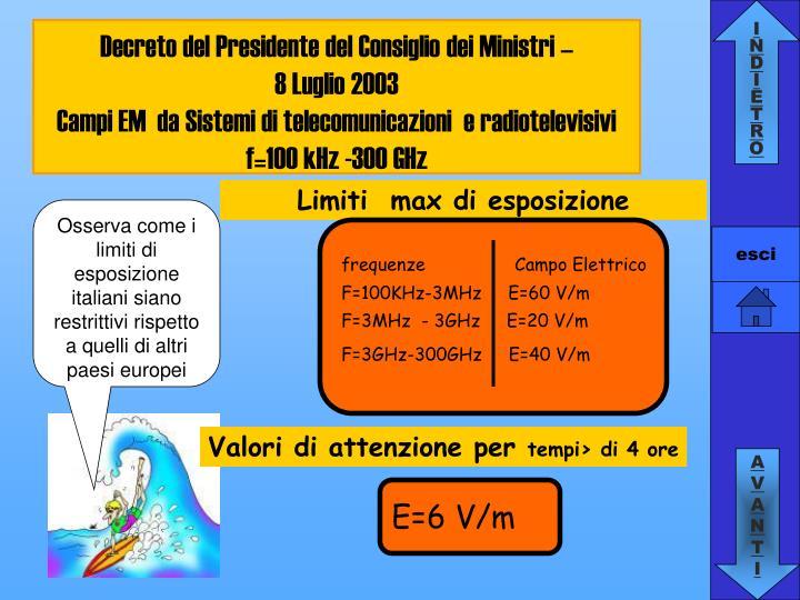 Decreto del Presidente del Consiglio dei Ministri –