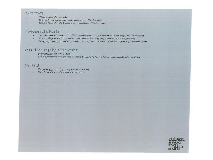 CV Skrivning