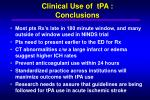 clinical use of tpa conclusions1