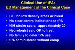 clinical use of tpa ed management of the clinical case