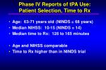 phase iv reports of tpa use patient selection time to rx