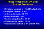 phase iv reports of tpa use protocol deviations