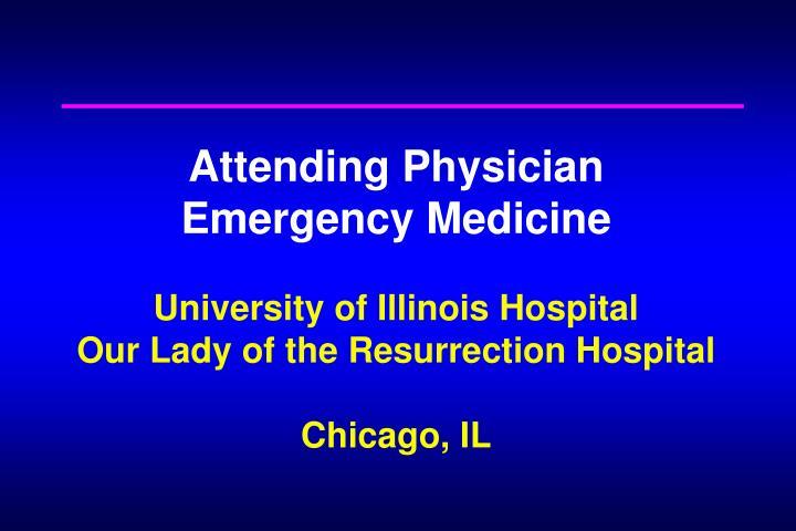 Attending Physician