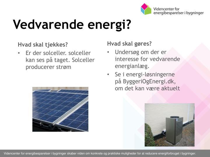 Vedvarende energi?